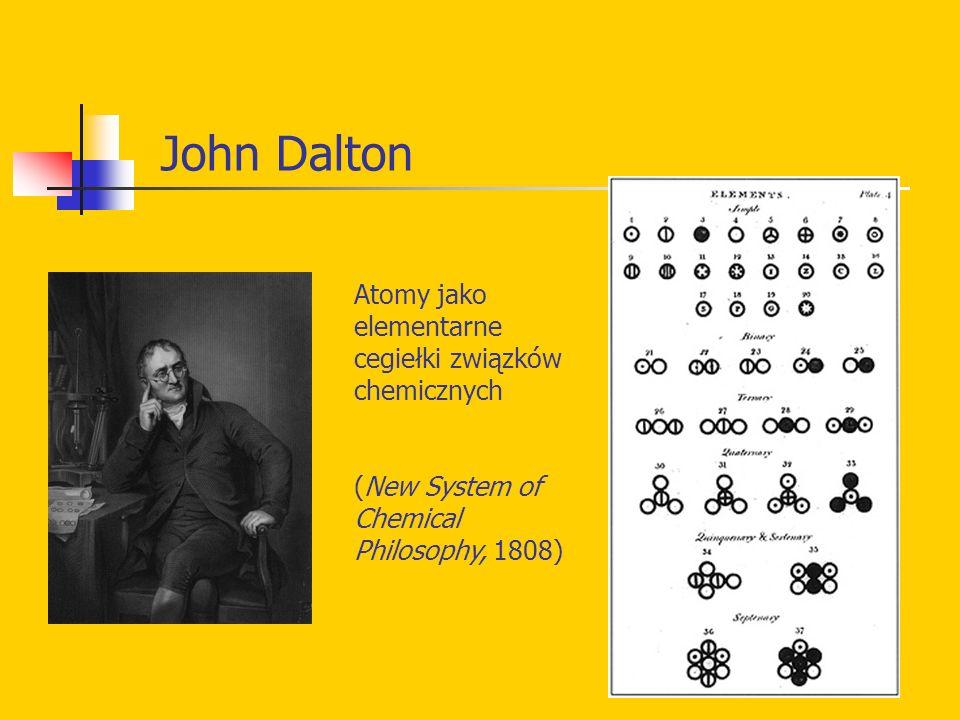 John Dalton Atomy jako elementarne cegiełki związków chemicznych