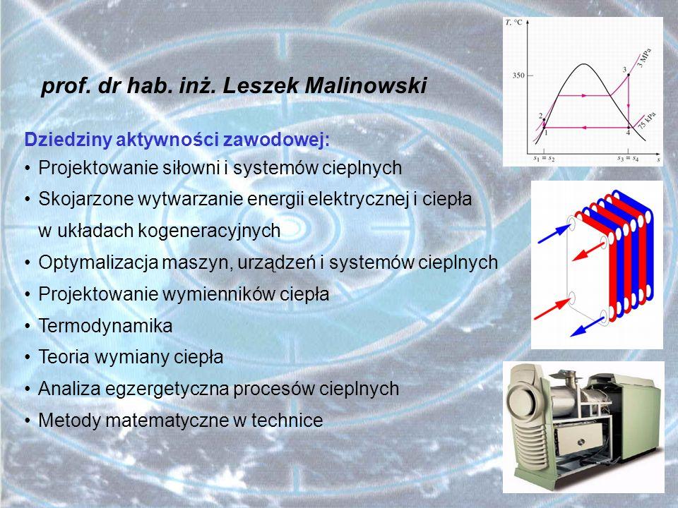 prof. dr hab. inż. Leszek Malinowski