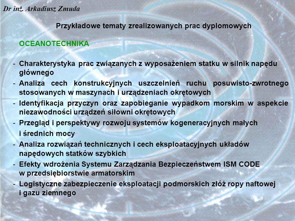 Przykładowe tematy zrealizowanych prac dyplomowych