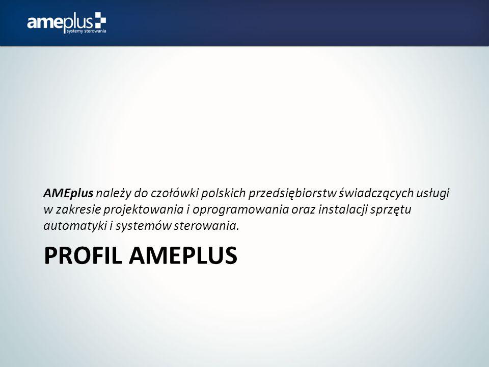 AMEplus należy do czołówki polskich przedsiębiorstw świadczących usługi w zakresie projektowania i oprogramowania oraz instalacji sprzętu automatyki i systemów sterowania.