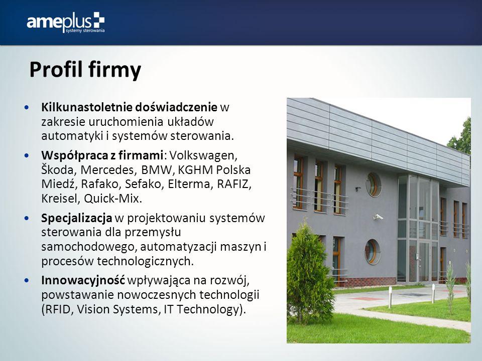Profil firmy Kilkunastoletnie doświadczenie w zakresie uruchomienia układów automatyki i systemów sterowania.