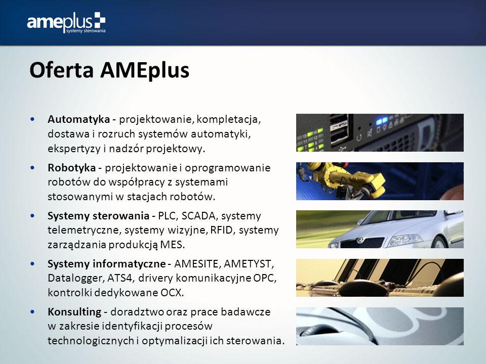 Oferta AMEplus Automatyka - projektowanie, kompletacja, dostawa i rozruch systemów automatyki, ekspertyzy i nadzór projektowy.