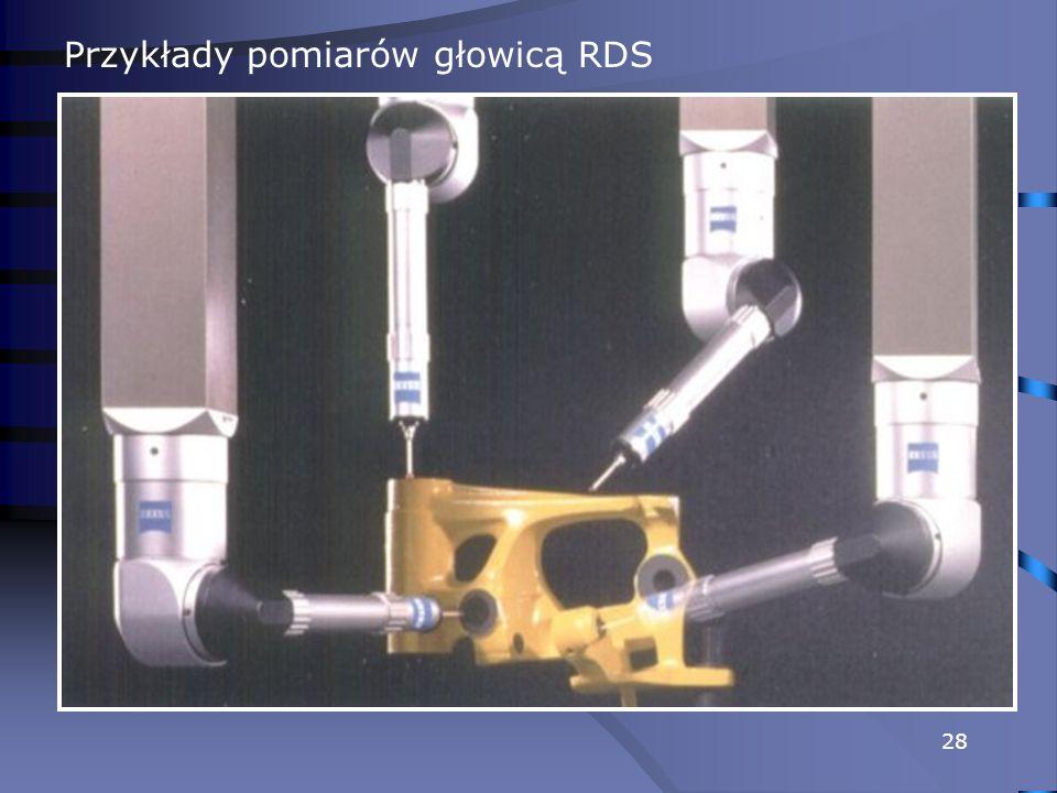 Przykłady pomiarów głowicą RDS