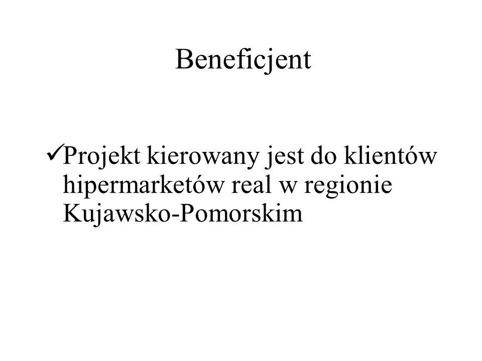 Beneficjent Projekt kierowany jest do klientów hipermarketów real w regionie Kujawsko-Pomorskim