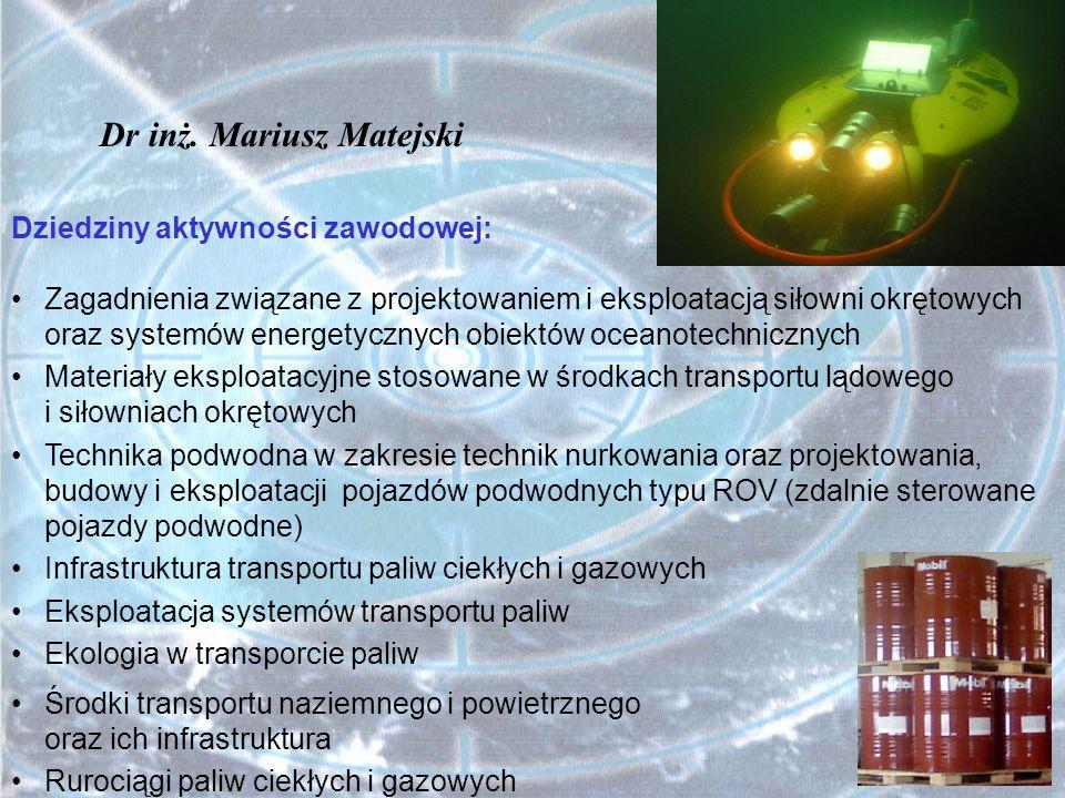 Dr inż. Mariusz Matejski