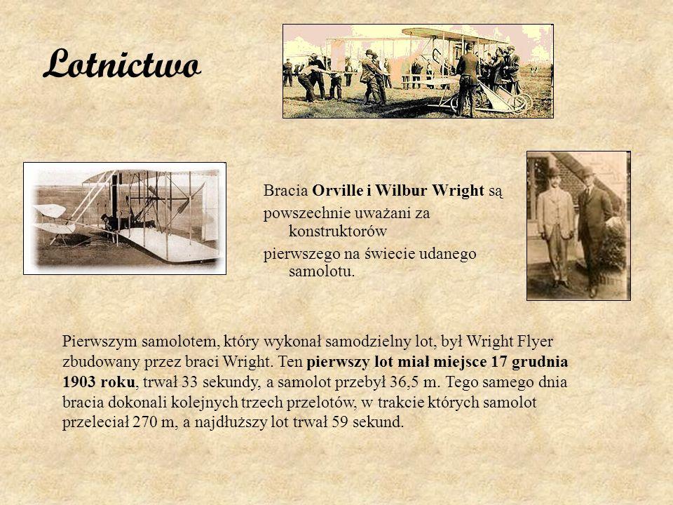 Lotnictwo Bracia Orville i Wilbur Wright są