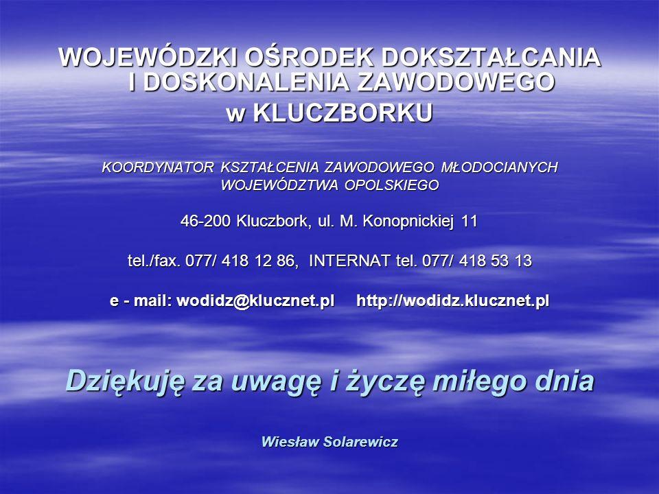 Dziękuję za uwagę i życzę miłego dnia Wiesław Solarewicz