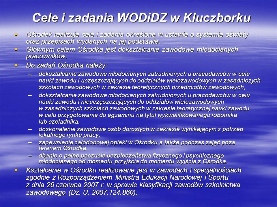 Cele i zadania WODiDZ w Kluczborku