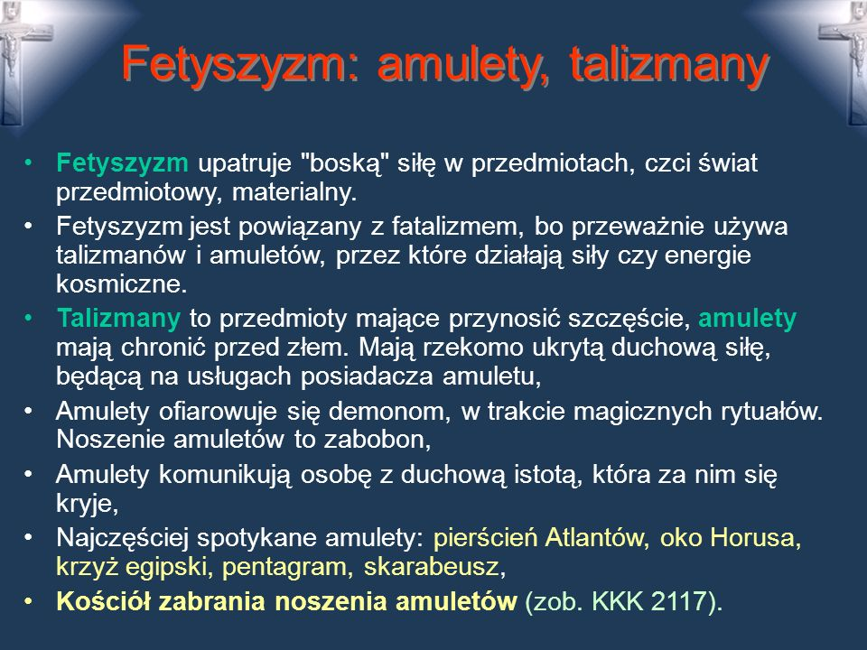 Fetyszyzm: amulety, talizmany