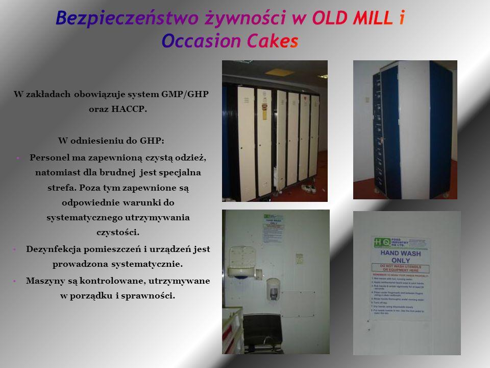 W zakładach obowiązuje system GMP/GHP oraz HACCP.