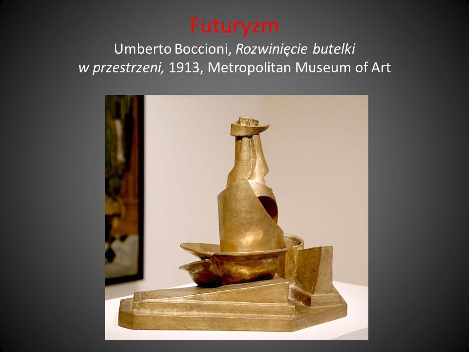 Futuryzm Umberto Boccioni, Rozwinięcie butelki w przestrzeni, 1913, Metropolitan Museum of Art