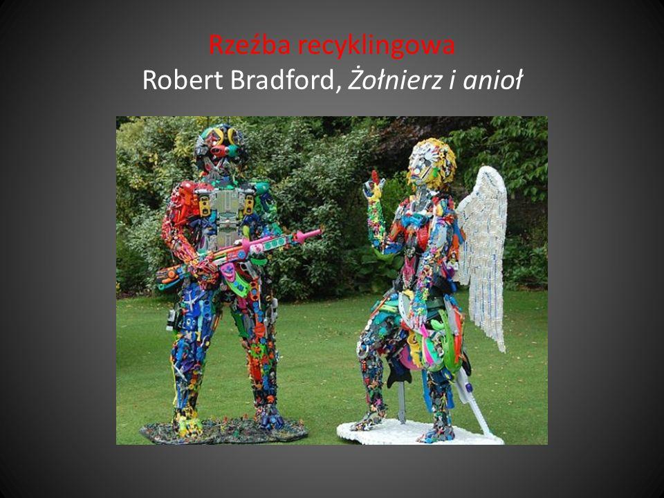 Rzeźba recyklingowa Robert Bradford, Żołnierz i anioł