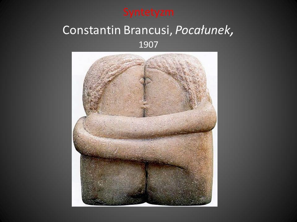 Syntetyzm Constantin Brancusi, Pocałunek, 1907