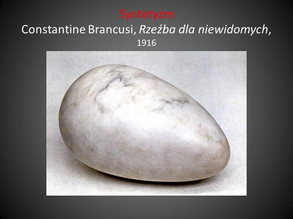 Syntetyzm Constantine Brancusi, Rzeźba dla niewidomych, 1916