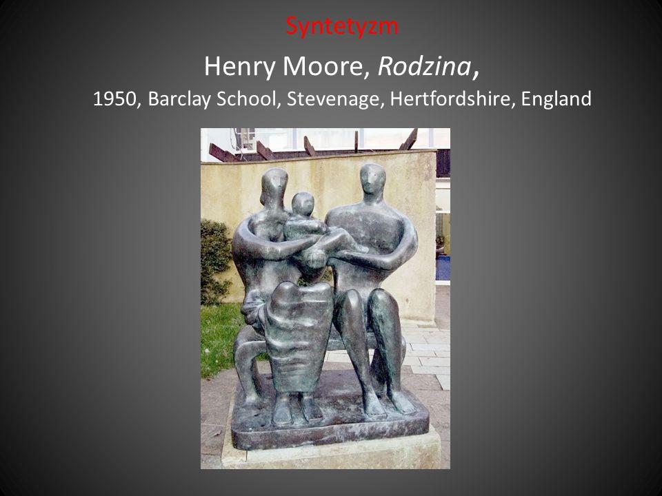 Syntetyzm Henry Moore, Rodzina, 1950, Barclay School, Stevenage, Hertfordshire, England