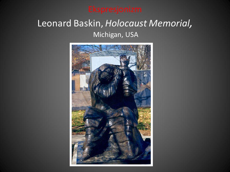 Ekspresjonizm Leonard Baskin, Holocaust Memorial, Michigan, USA