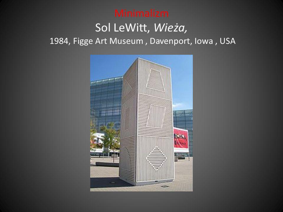 Minimalizm Sol LeWitt, Wieża, 1984, Figge Art Museum , Davenport, Iowa , USA