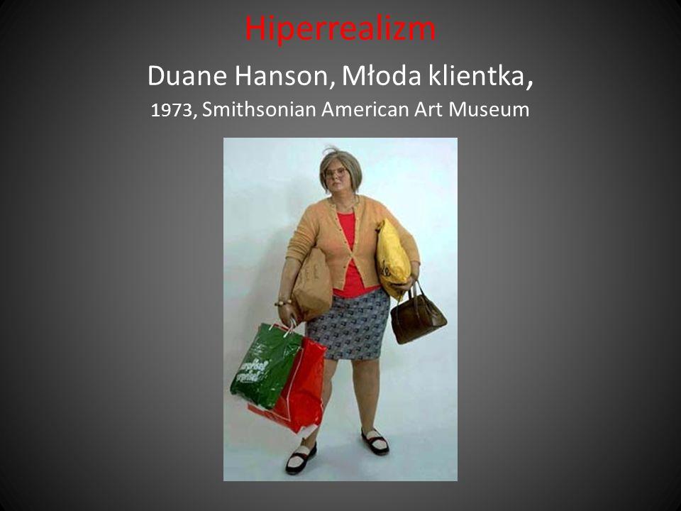Hiperrealizm Duane Hanson, Młoda klientka, 1973, Smithsonian American Art Museum