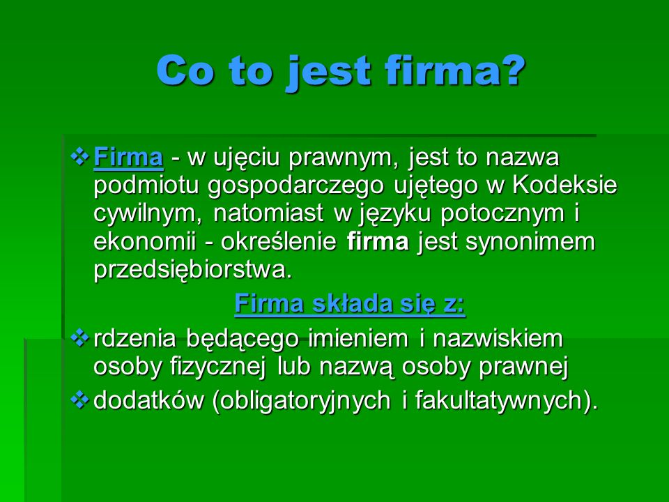 Co to jest firma