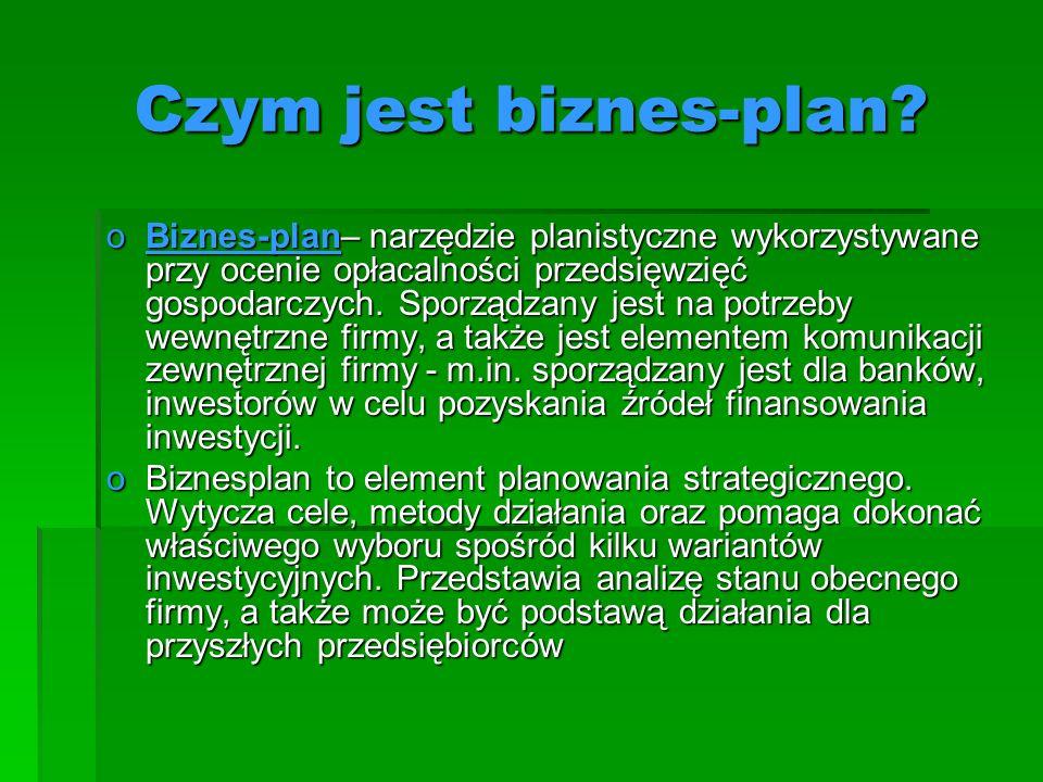 Czym jest biznes-plan