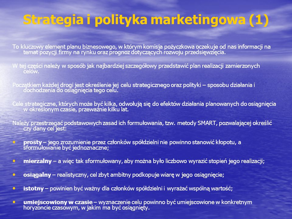 Strategia i polityka marketingowa (1)