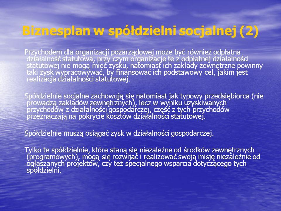 Biznesplan w spółdzielni socjalnej (2)