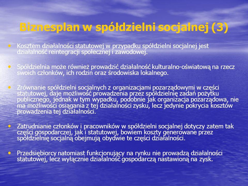 Biznesplan w spółdzielni socjalnej (3)