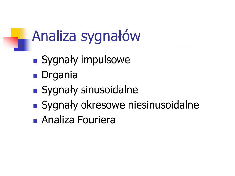 Analiza sygnałów Sygnały impulsowe Drgania Sygnały sinusoidalne