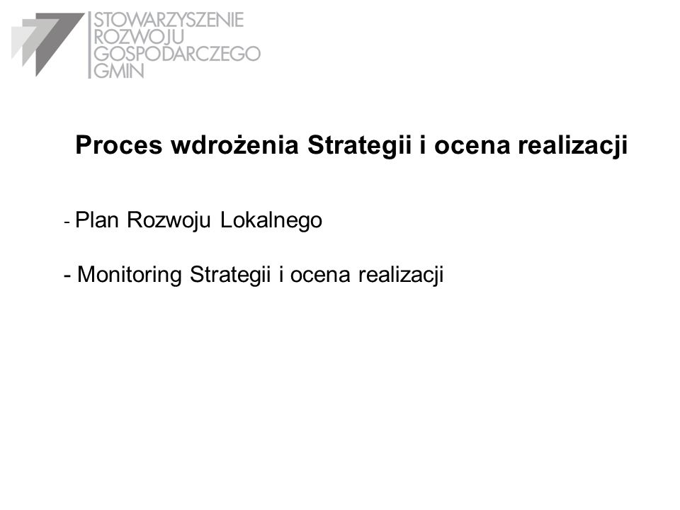 Proces wdrożenia Strategii i ocena realizacji