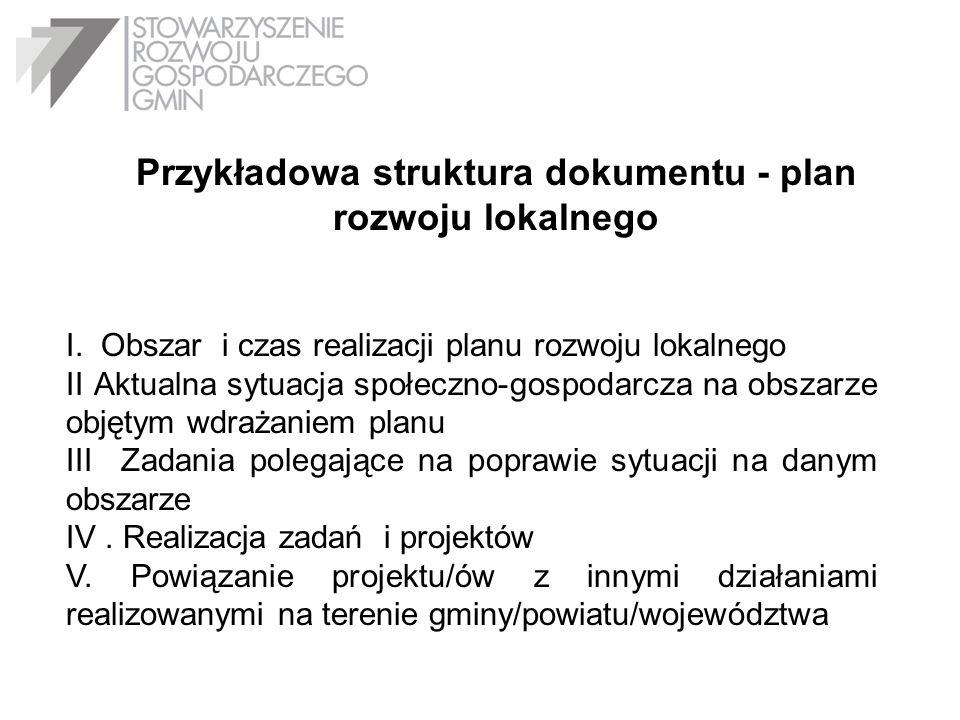 Przykładowa struktura dokumentu - plan rozwoju lokalnego