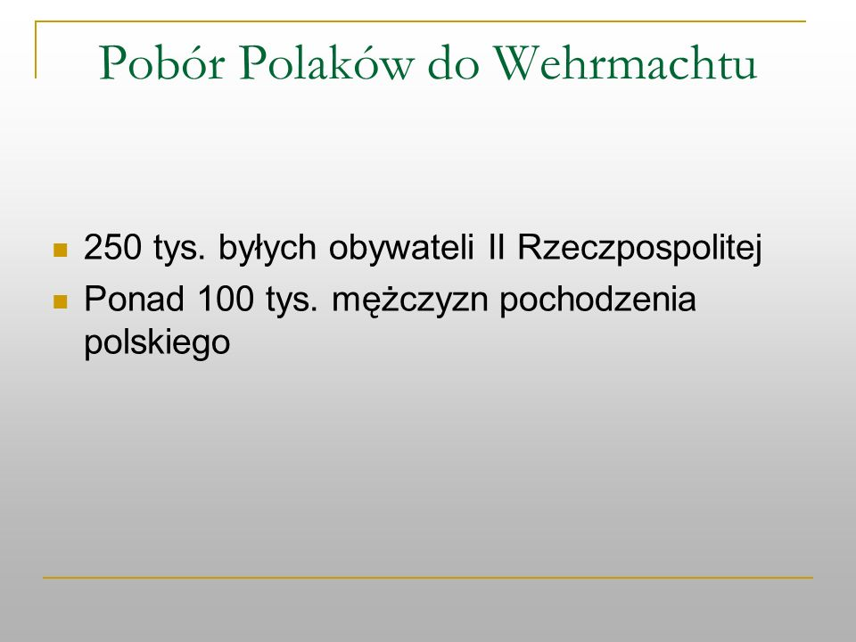 Pobór Polaków do Wehrmachtu