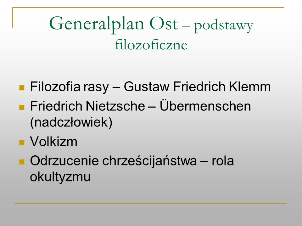 Generalplan Ost – podstawy filozoficzne