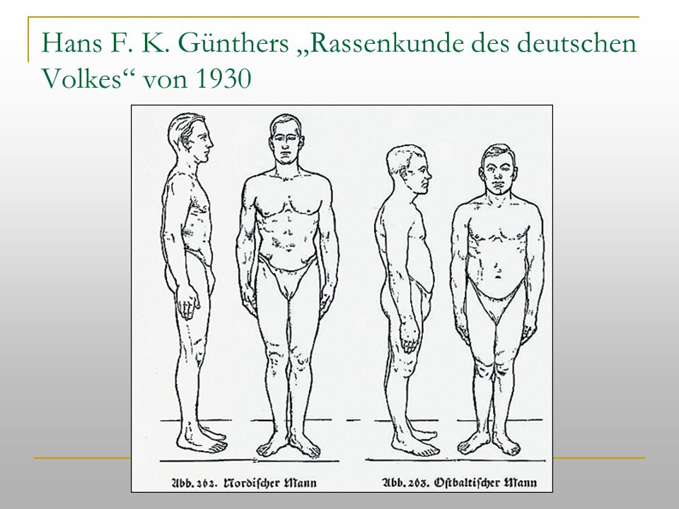 """Hans F. K. Günthers """"Rassenkunde des deutschen Volkes von 1930"""