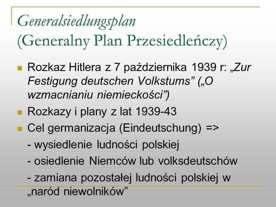 Generalsiedlungsplan (Generalny Plan Przesiedleńczy)