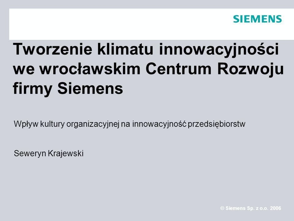Tworzenie klimatu innowacyjności we wrocławskim Centrum Rozwoju firmy Siemens