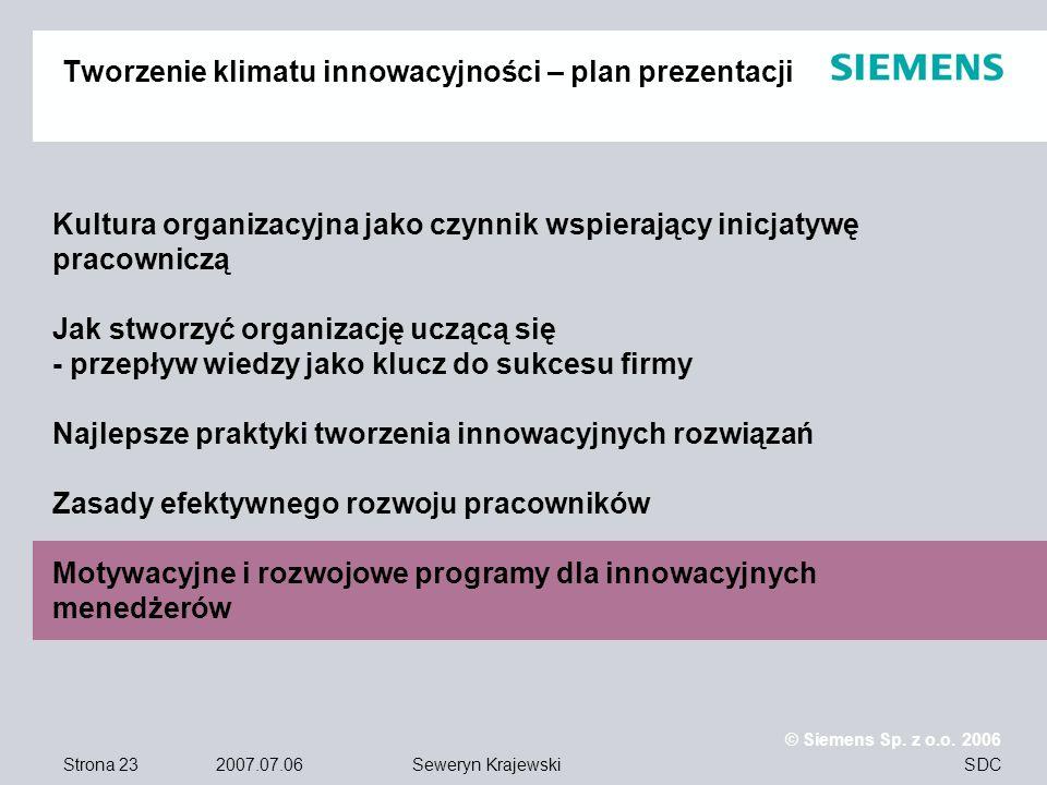 Tworzenie klimatu innowacyjności – plan prezentacji