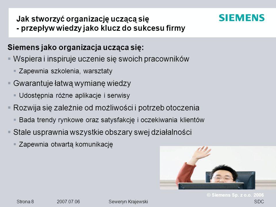 Siemens jako organizacja ucząca się: