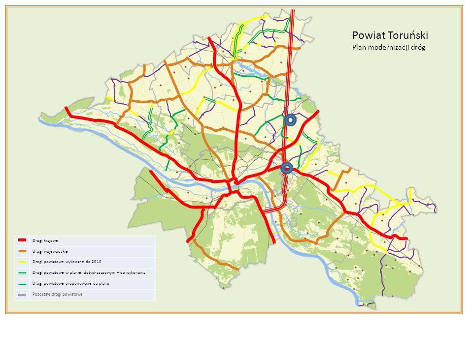 Powiat Toruński Plan modernizacji dróg Drogi krajowe Drogi wojewódzkie