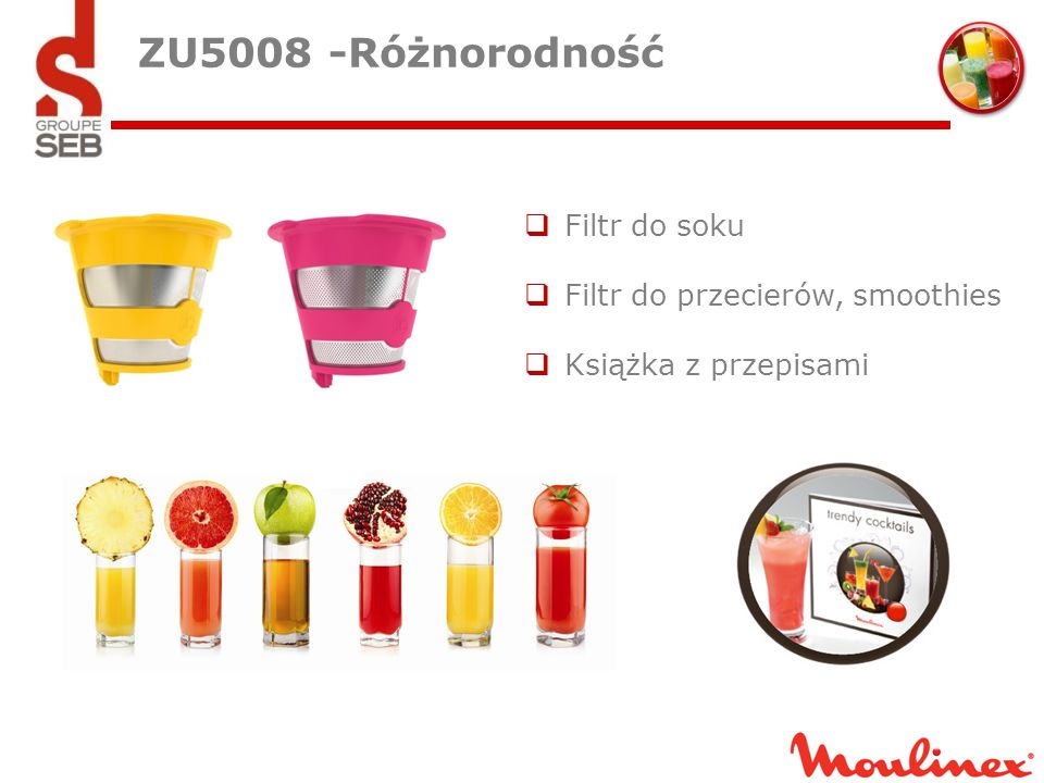 ZU5008 -Różnorodność Filtr do soku Filtr do przecierów, smoothies