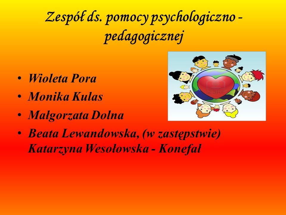 Zespół ds. pomocy psychologiczno - pedagogicznej