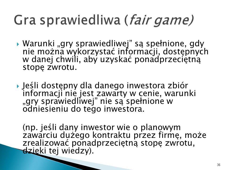 Gra sprawiedliwa (fair game)