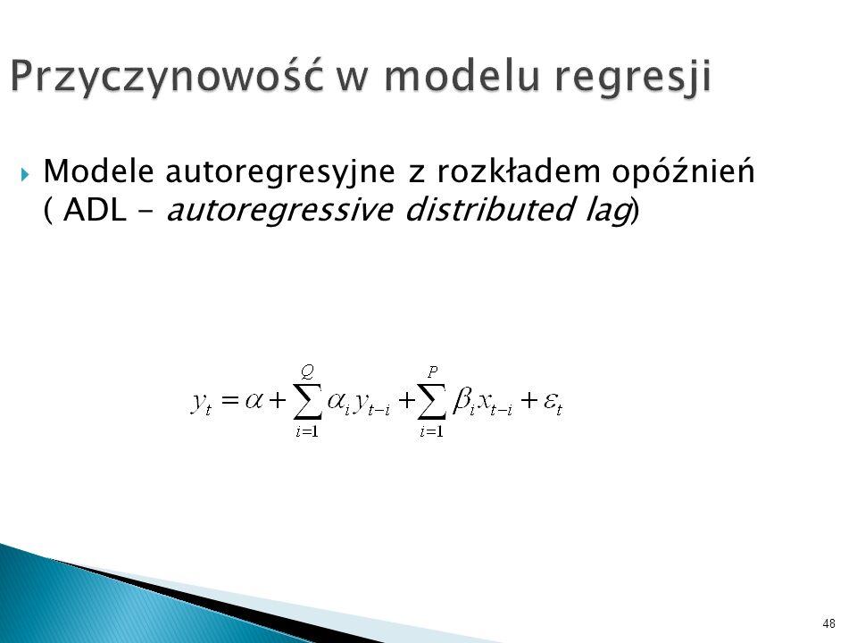 Przyczynowość w modelu regresji