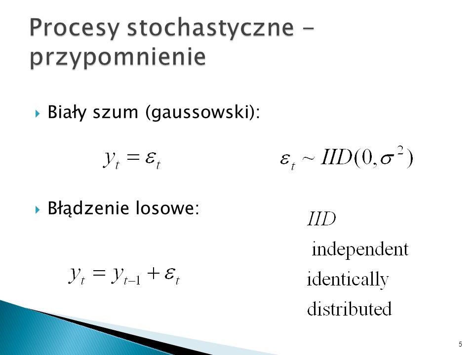Procesy stochastyczne - przypomnienie