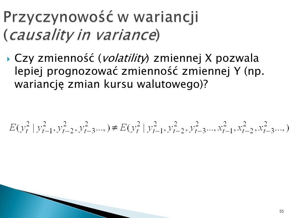 Przyczynowość w wariancji (causality in variance)