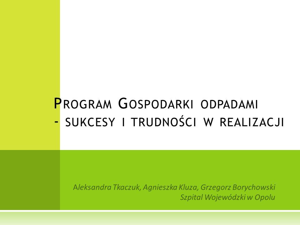 Program Gospodarki odpadami - sukcesy i trudności w realizacji
