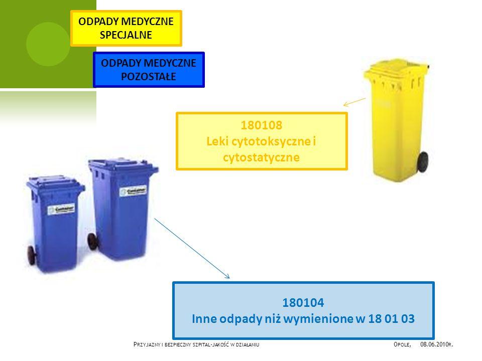 180108 Leki cytotoksyczne i cytostatyczne