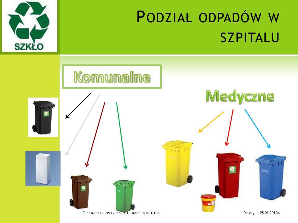 Podział odpadów w szpitalu