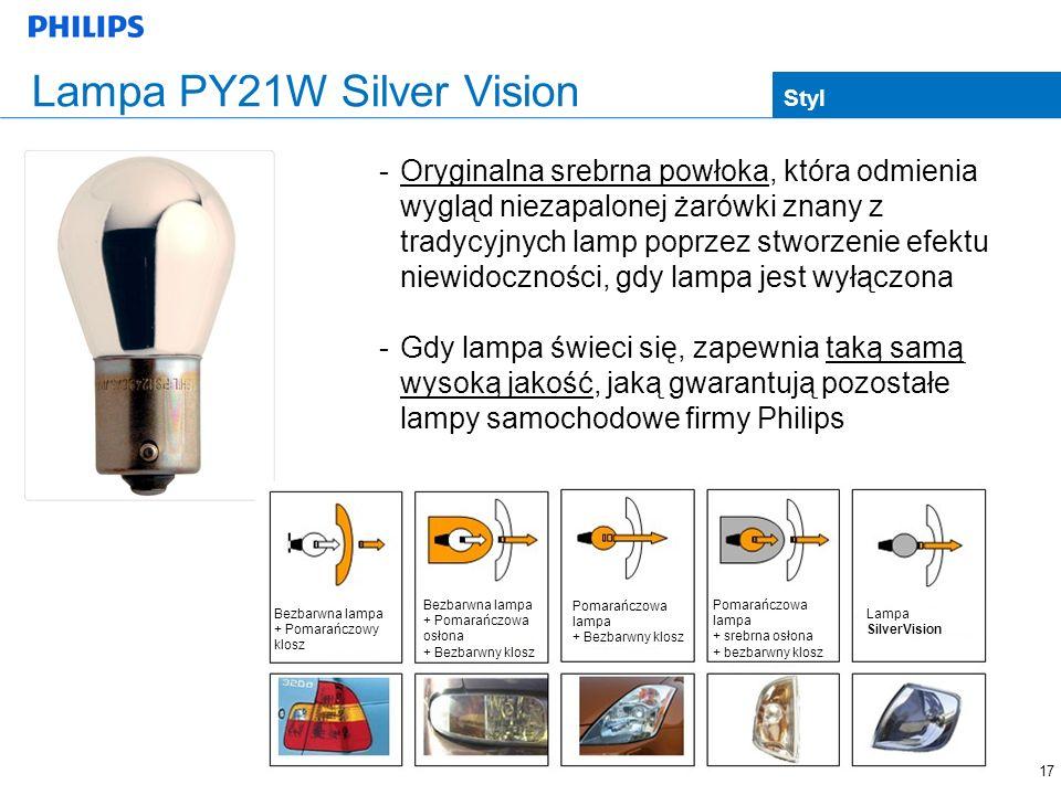 Lampa PY21W Silver Vision