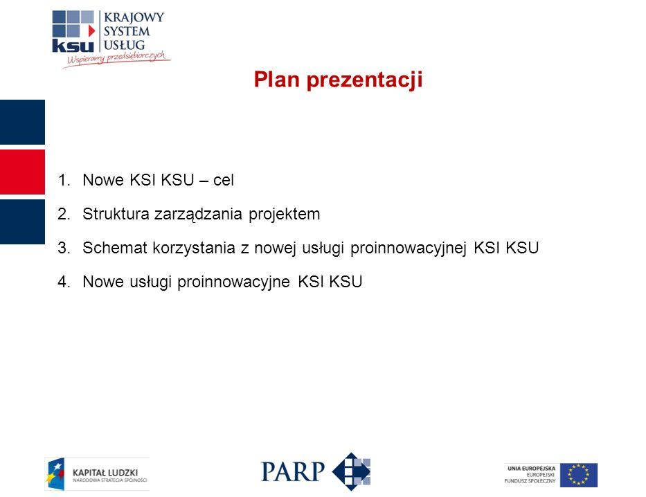Plan prezentacji Nowe KSI KSU – cel Struktura zarządzania projektem