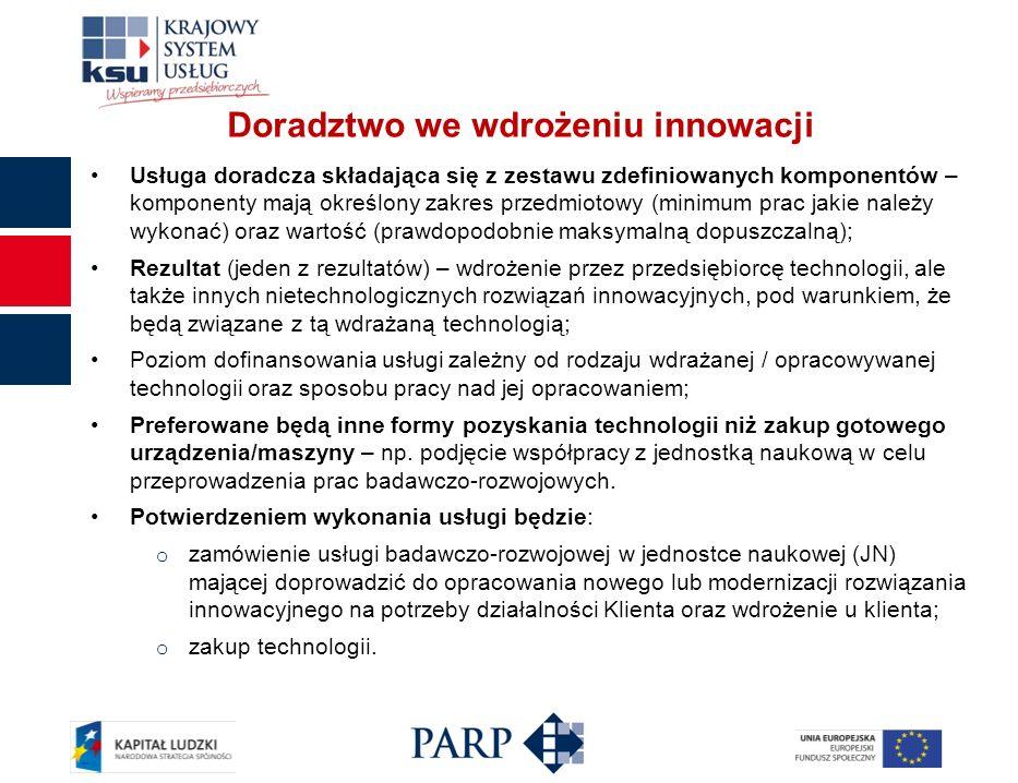 Doradztwo we wdrożeniu innowacji